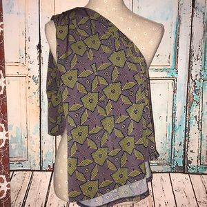 LULAROE~Geo Print MAXI Skirt Fold-over Waistband~M